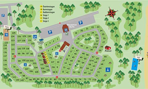 camping skåne karta Borrbystrands Camping camping skåne karta